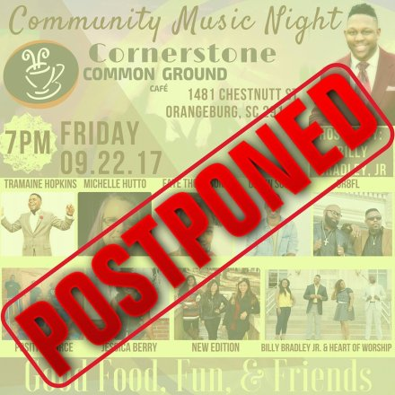 Cancellation Flier for Open Mic Night